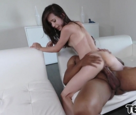 Black boss seduced by a chick
