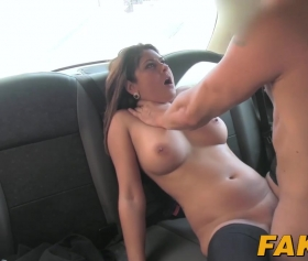 Belgian milf fucked in a cab