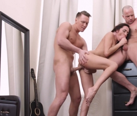 Kerry Cherry fucks with two dude