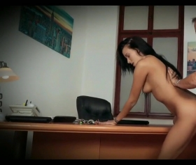 Old boss fucks with the secretary