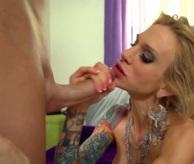 Hot milf sucks some big dick