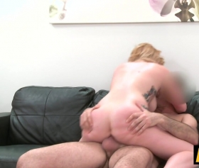 Spanish babe fucked on the couch