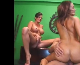 Stepmom fucks with her stepdaughter