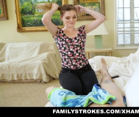 Crazy stepsis seduces her stepbro
