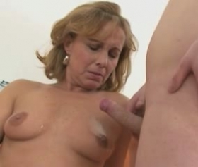 Hot mom fucks with her son